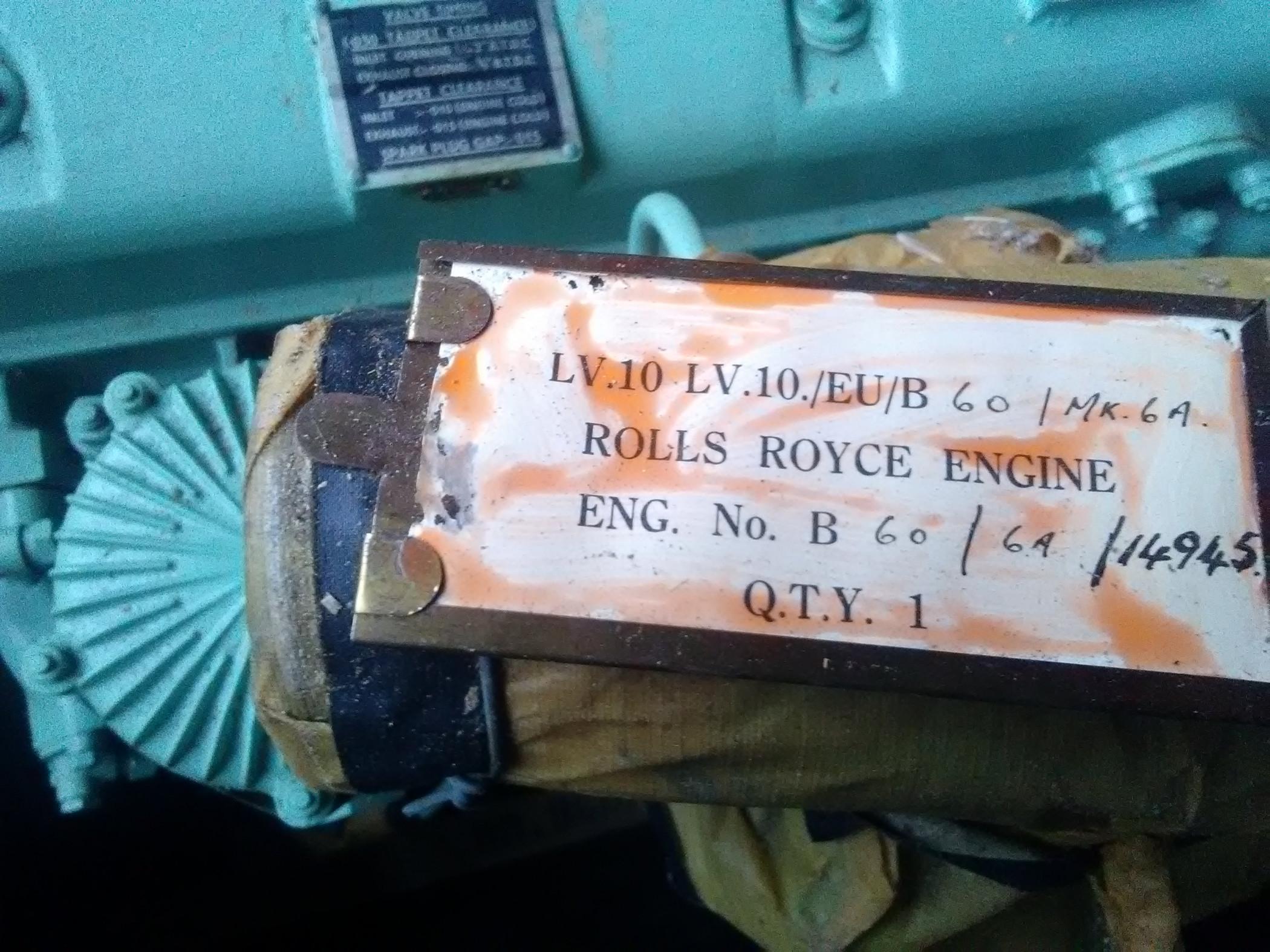 Moteur rolls Royce