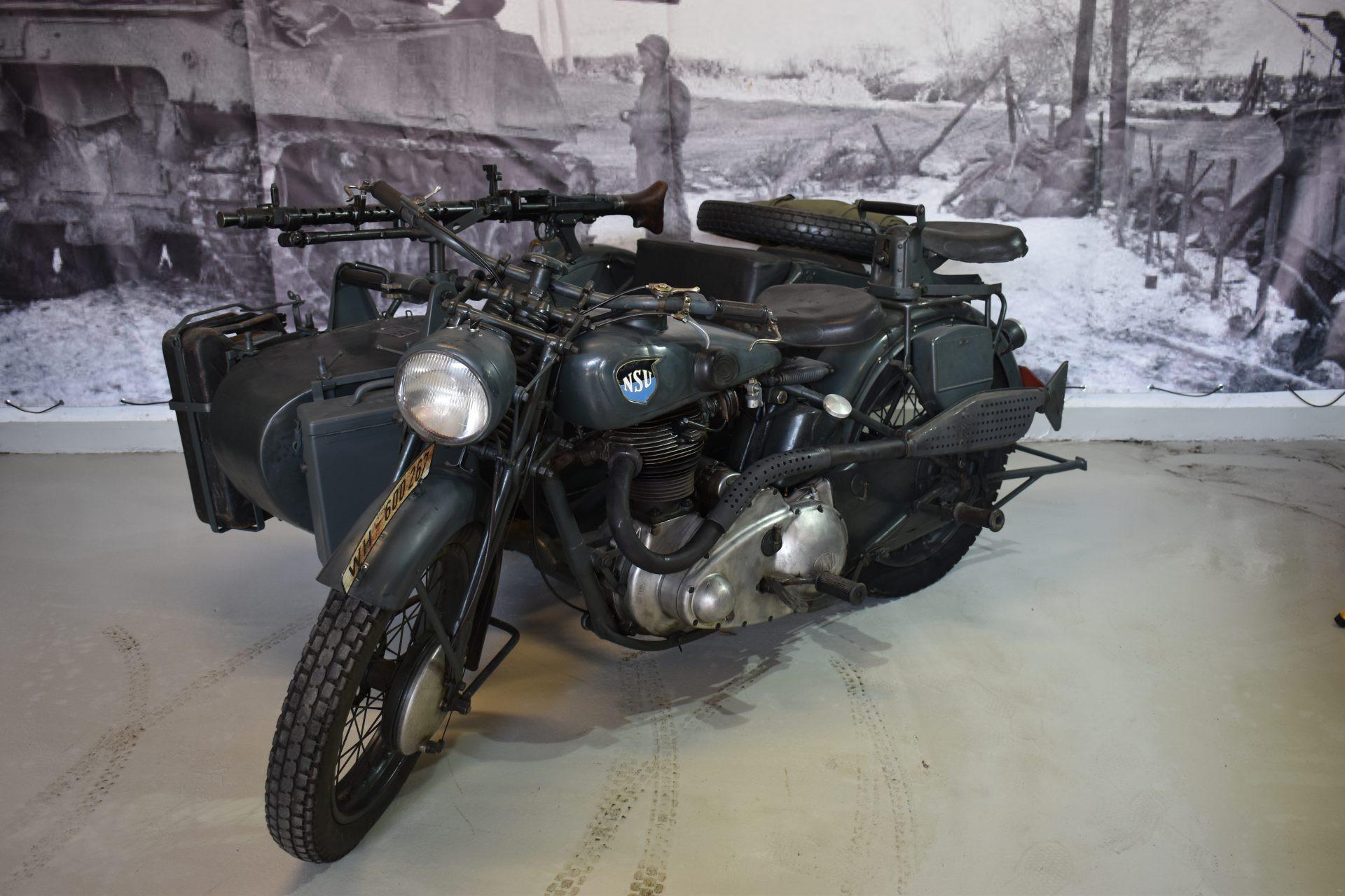 NSU 601 OSL Wehrmacht with sidecar