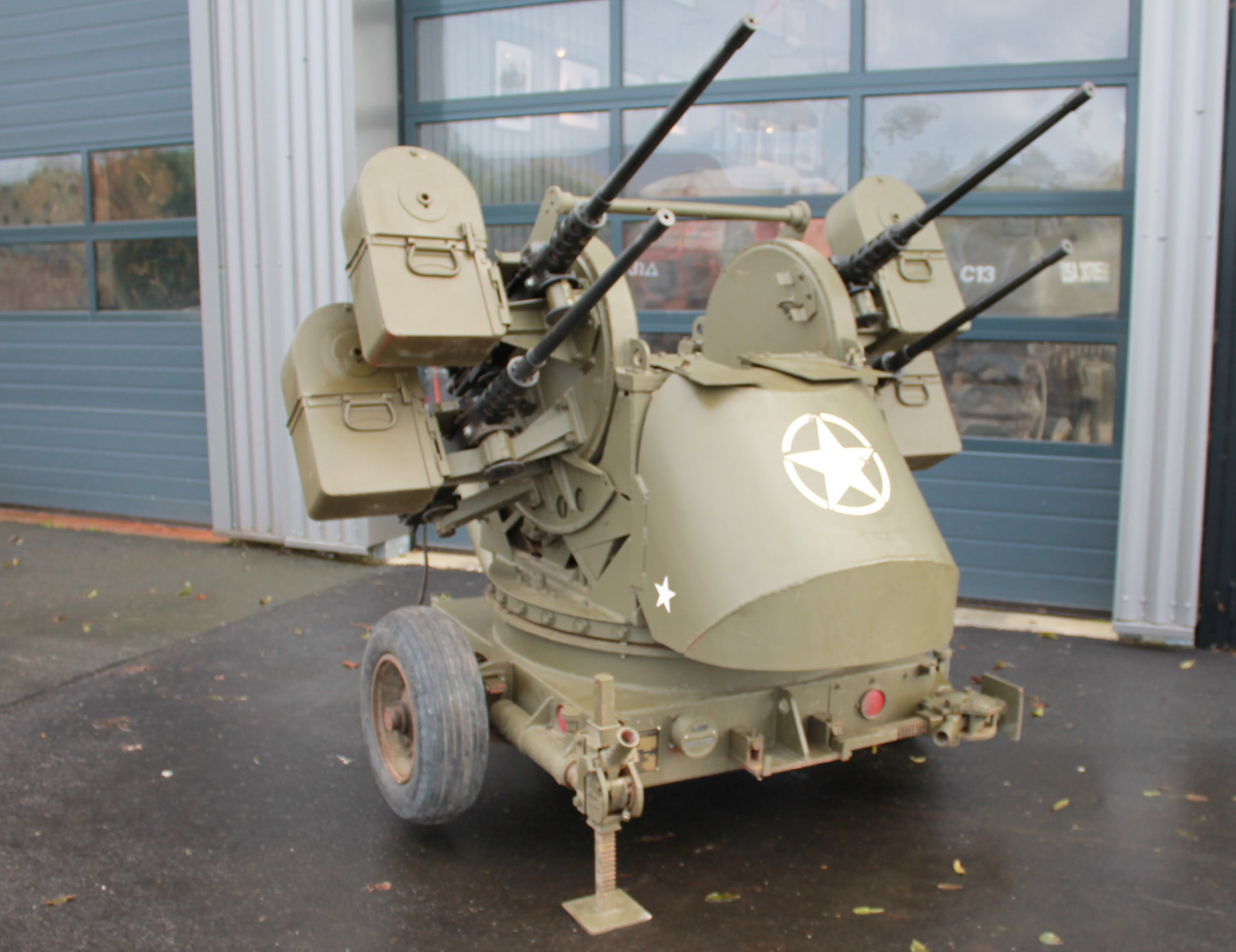 M55 Quad gun trailer